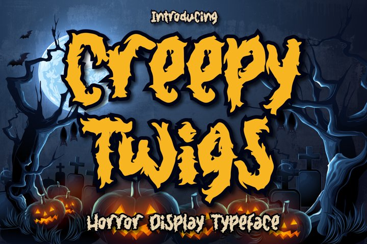 Creepy Twigs - Horror Display Typeface