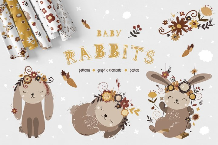 Baby Rabbits set