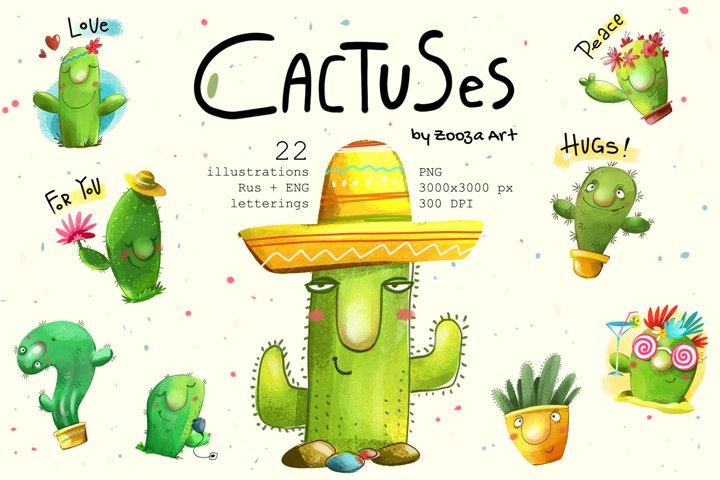 Cactus illustrations