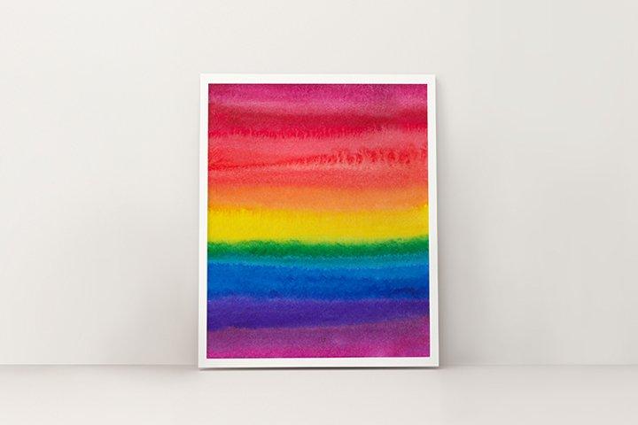 Rainbow ART illustration, LGBT pride
