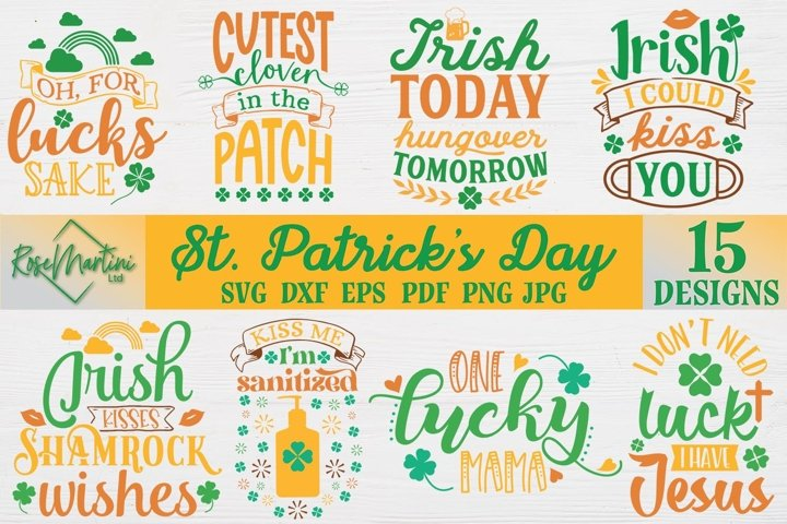 St Patricks Day Bundle SVG St Patricks day SVG 15 Cut Files