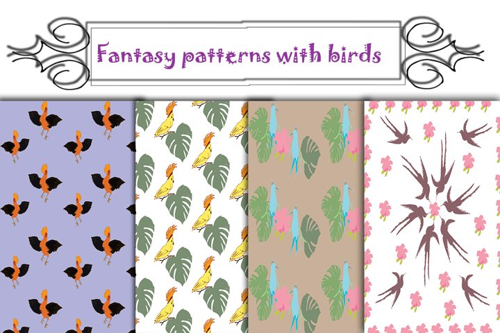 Fantasy Patterns with Birds