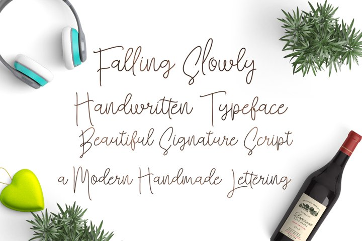 Falling Slowly - Free Font of The Week Design1