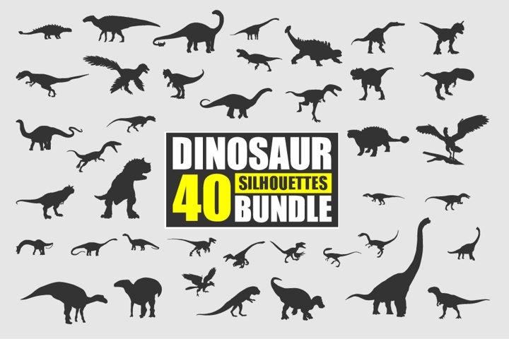 Dinosaur Silhouette Bundle Vector