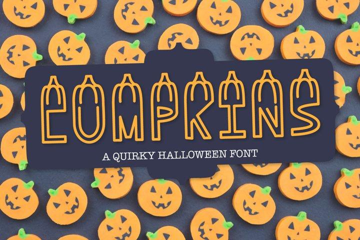 LUMPKINS - A Silly Word Art Halloween Font