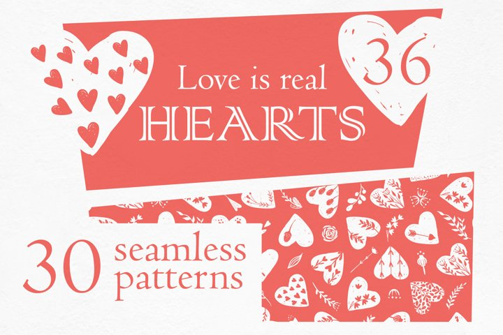 Love is real. Hearts and patterns