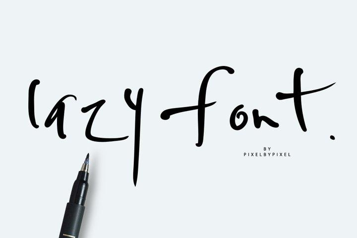 Lazy  Font