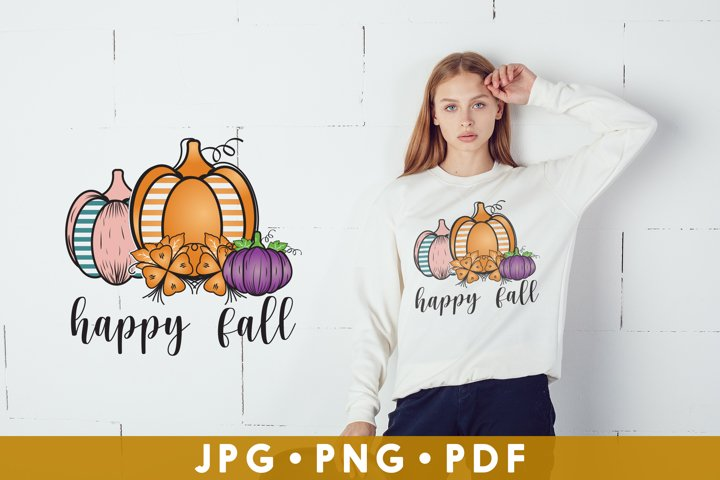 Fall Sublimation, Happy Fall, Pumpkin PNG Clipart