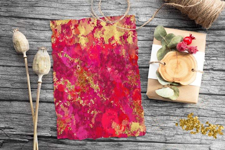 Pink Gold Tie Dye, Tie Dye Digital Papers, retro paper