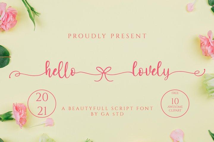 Hello Lovely - A Beautiful Script Font