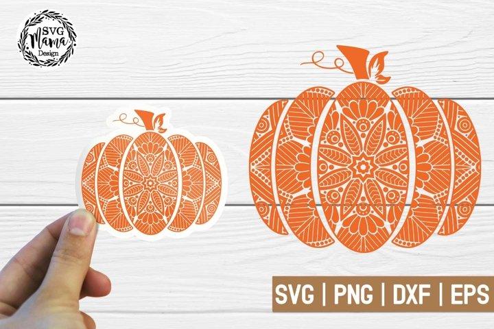 Pumpkin Mandala Svg