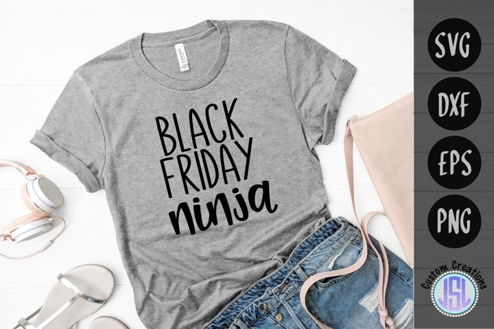 Black Friday Ninja | Shopping SVG | SVG DXF EPS PNG