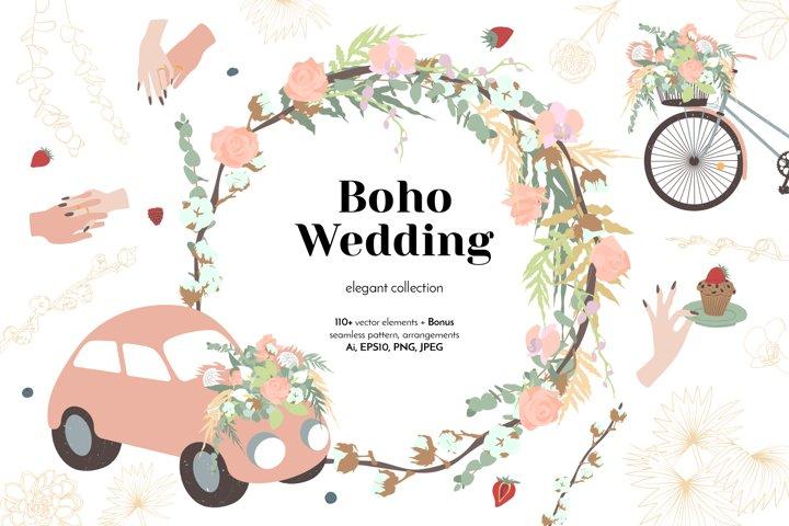 Elegant Boho Wedding Graphic Collection