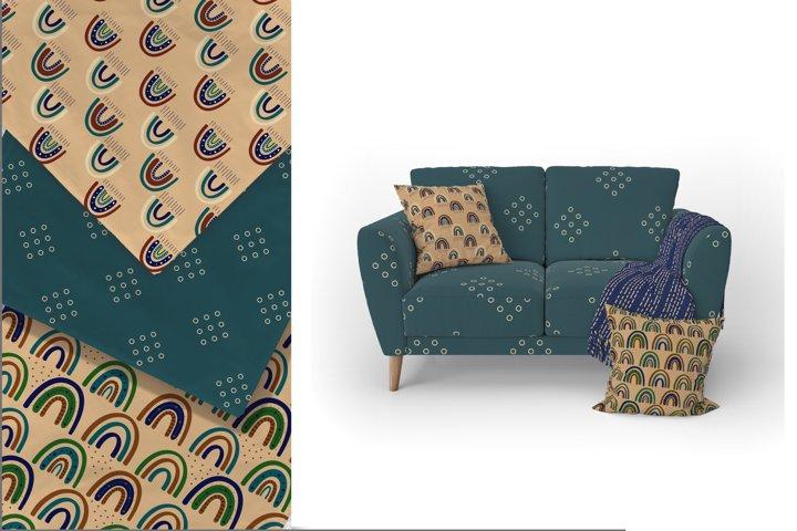 Modern Bohemian patterns. Boho pattern collection example 1