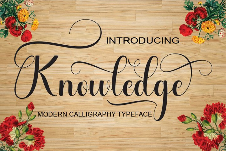 Knowledge - Free Font of The Week Font