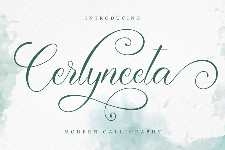 Cerlyneeta - Romantic Calligraphy Font