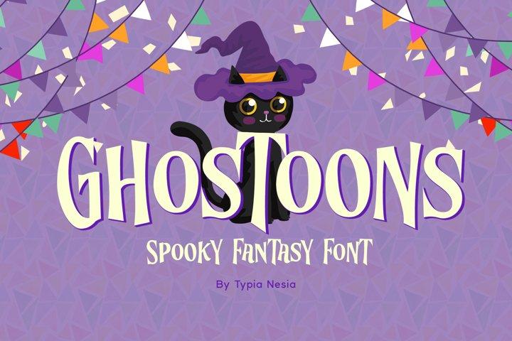 Ghostoons - Cute Fancy Font
