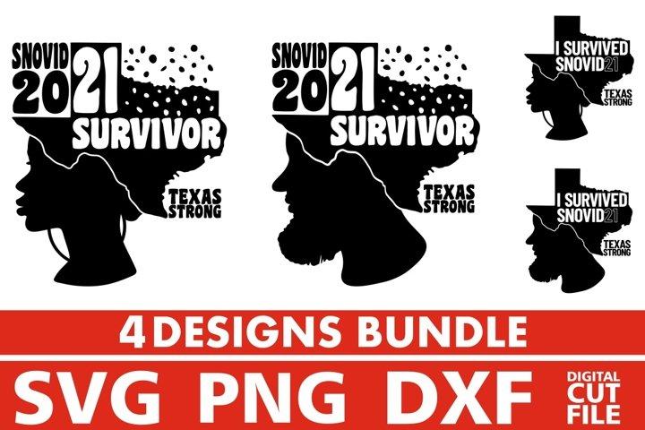 I Survived Snovid 21 Bundle svg, Texas Strong, Snovid 2021