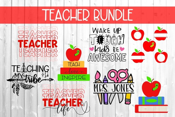 Teacher Bundle SVG DXF PNG
