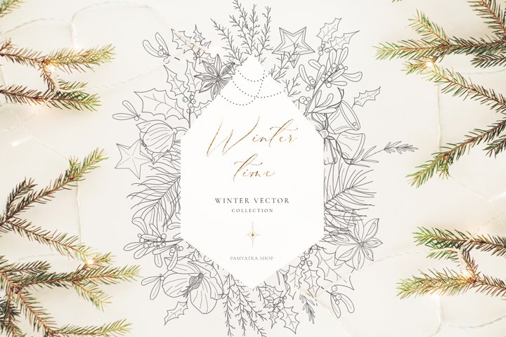 Winter time. Christmas vector illustrations