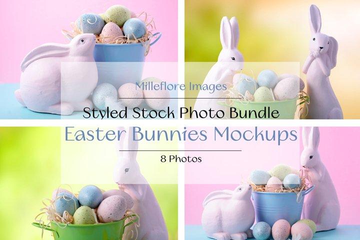 Easter Bunny Pastel Styled Stock Photo Mockup Palette Bundle