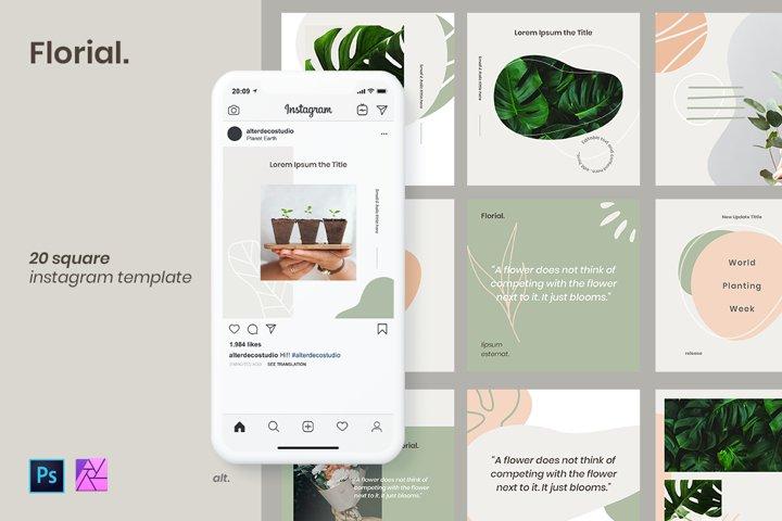 Instagram Template - Florial