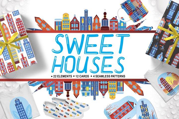 Sweet Homes Amsterdam - Set of Illustrations