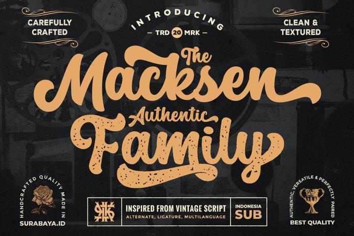 The Macksen Font - Bold Script Font