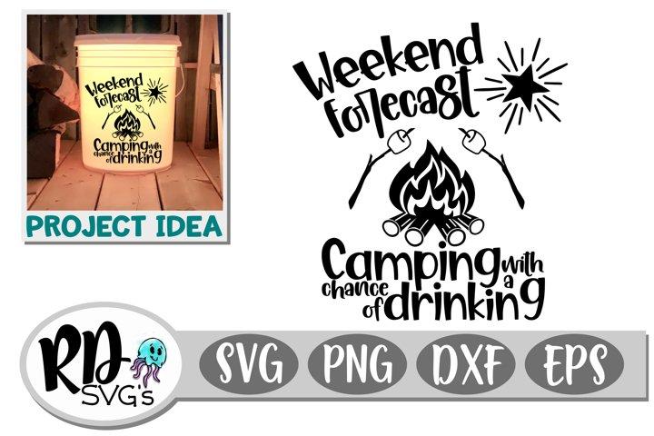 Weekend Forecast - A Fun Camping Cut File