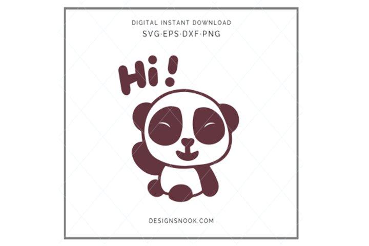 Baby Panda - SVG