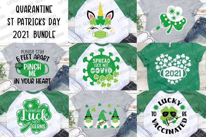 St Patricks Day Svg Bundle, Quarantine st patricks, 2021 Svg