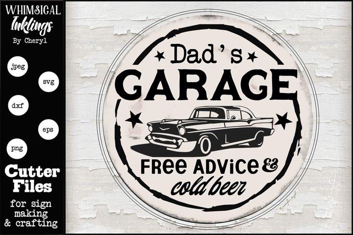Dads Garage-Round SVG