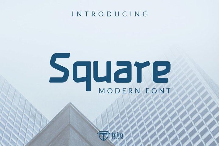 Square - Display Games Font