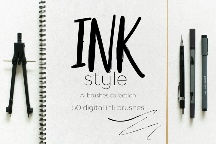 Ink style brushes for AI
