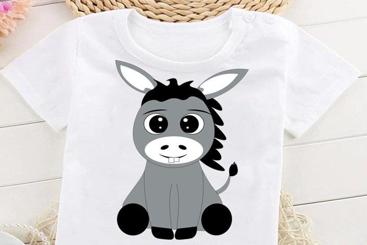 Donkey SVG, Farm Animals SVG, Donkey Clipart, Donkey Cut Fil