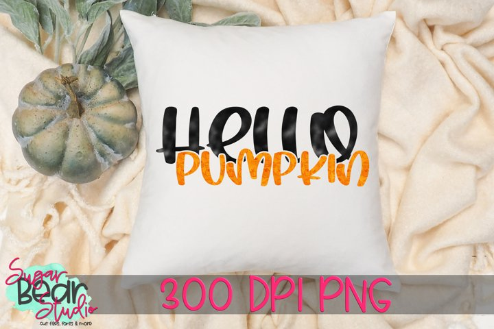 Hello Pumpkin PNG for Sublimation