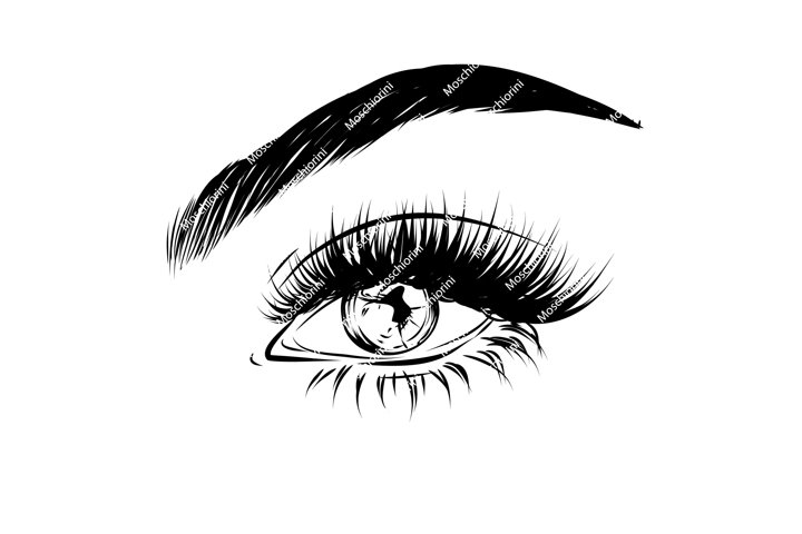 SVG eye illustration for decall stores logo, banners