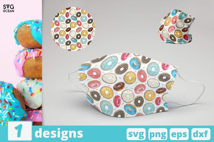 DONUTS FACE MASK svg pattern, tasty donuts mask pattern