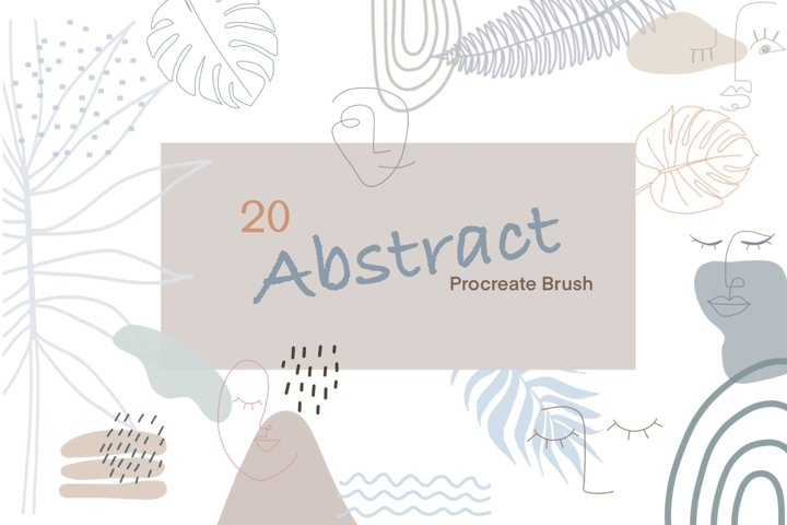 20 Abstract Procreate Brush Stamps-Procreate Brushes-Doodle