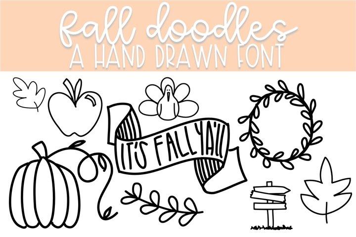 Fall Doodle Font | Doodle Font