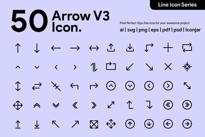 50 Arrow v3 Line Icon