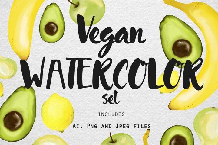 Vegan Watercolor - Free Design of The Week Font