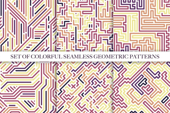 Color geometric seamless pattens