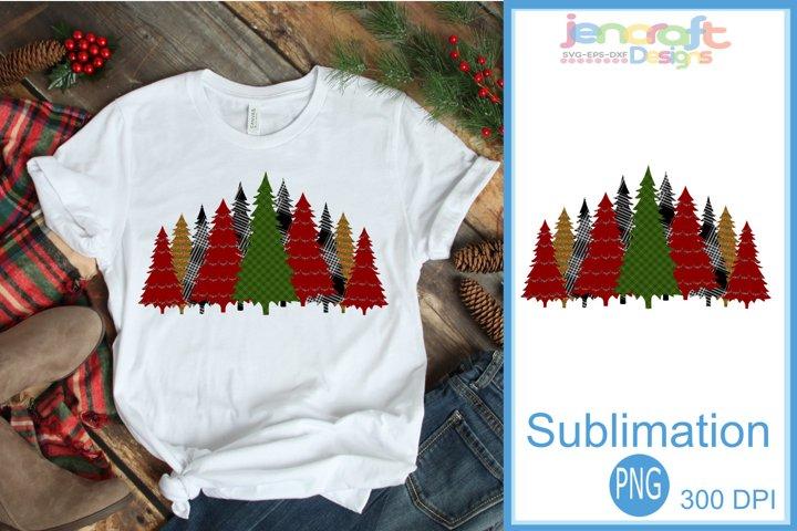 Buffalo Plaid Christmas Tree Leopard print Sublimation