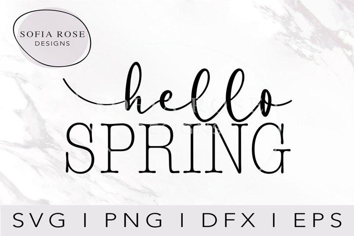 hello SPRING SVG-Spring SVG-Hello SVG-Season Svg-Clip Art