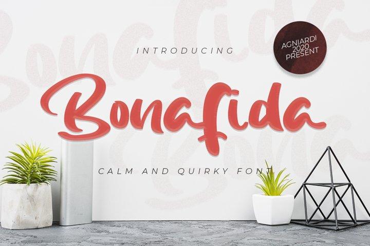 Bonafida - Calm and Quirky Font