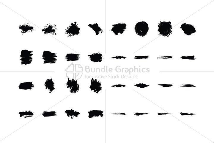 Splatters Vector Graphic Elements Set