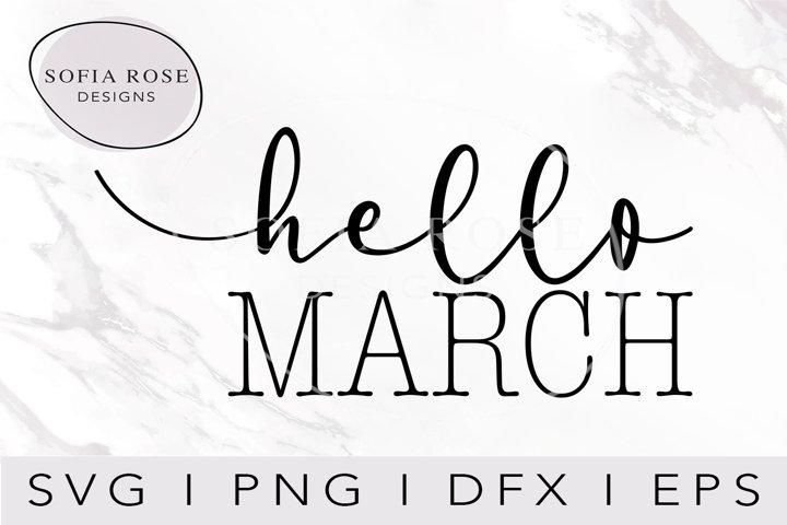 hello MARCH-March SVG-Hello SVG-Winter SVG-Clip Art
