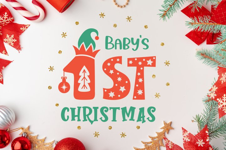 First christmas svg, babys first christmas ornament svg cut.