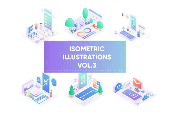 Isometric illustrations for web vol 3